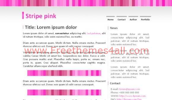 Free CSS Simple Pink White web2.0 Template