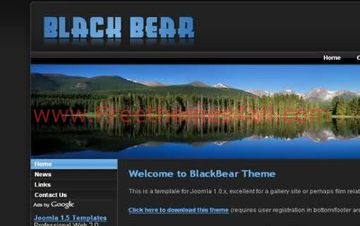 Free Joomla Blue Lake Web2.0 Website Template