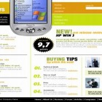 Mobiles Review Green Website Template