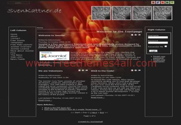 Free Joomla Nature Black Website Theme Template