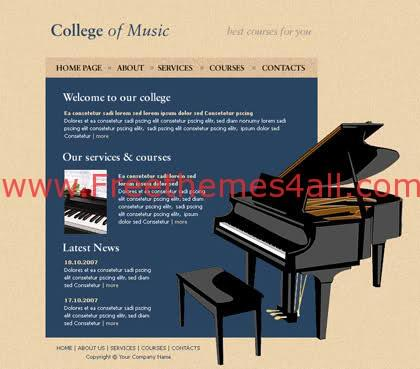 Free HTML Music College Classic Web Template