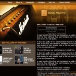 Music Download Orange CSS Template