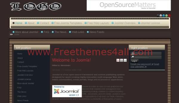 Free Joomla 1.5 Music Rap Black Template