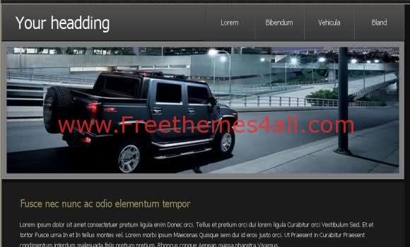 Free CSS Black Cars Blog Web2.0 Template