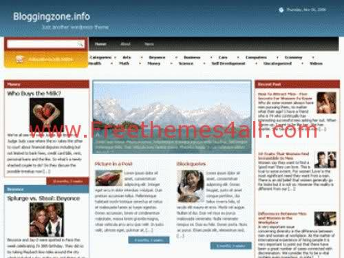 Free WordPress Red and White Website Theme