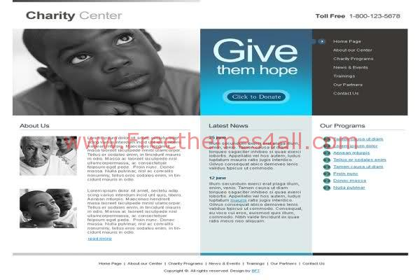 Free HTML Charity Foundation Web2.0 Template