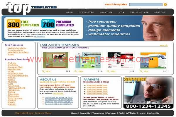 Free HTML Full Business Network Company Web Template