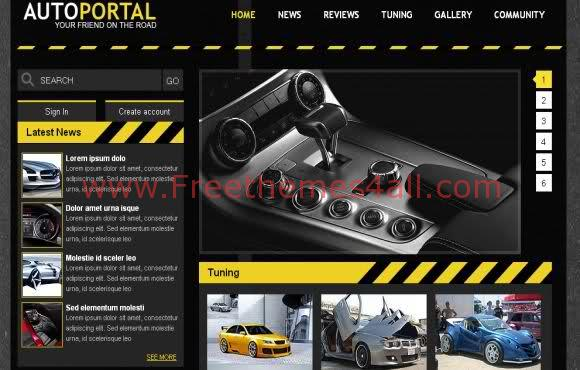 Free CSS Cars Portal Web2.0 Template