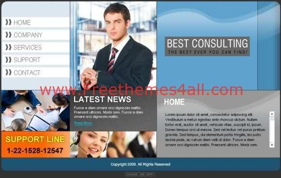 Blue Business Consulting Flash Template
