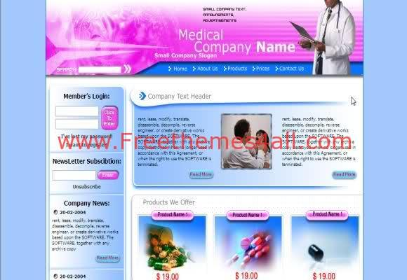 Free Flash Medical Hospital Center Template