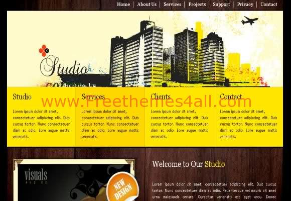 Free CSS Yellow Studio Template
