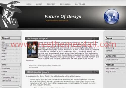 Free WordPress Design Gray Web2.0 Template