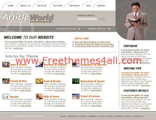 Free HTML Articles and News Website Template