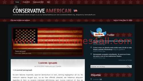 Free Blogger USA Dark Blog Magazin Web2.0 Template