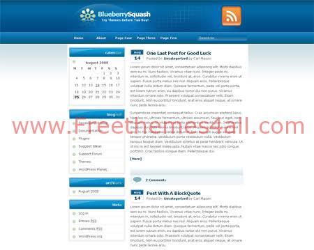 Free WordPress Fresh Bleu Web2.0 Theme Template