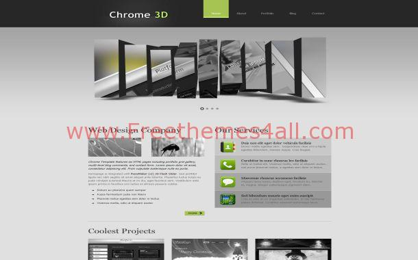 Free 3d Gray Jquery Grunge Css Website Template