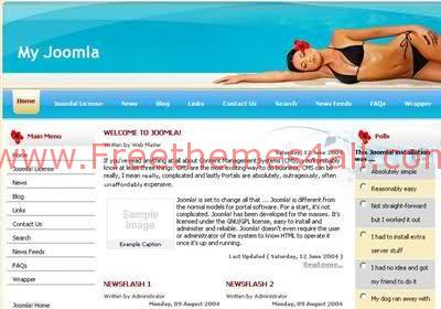 Free Joomla Beach Sexy Blue Web2.0 Template