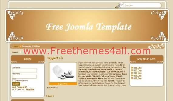 Free Joomla Brown Silver Arts Theme Template