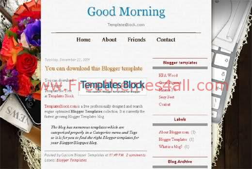 Free Blogger Good Morning Web2.0 Template