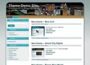 City Night Blue WordPress Theme