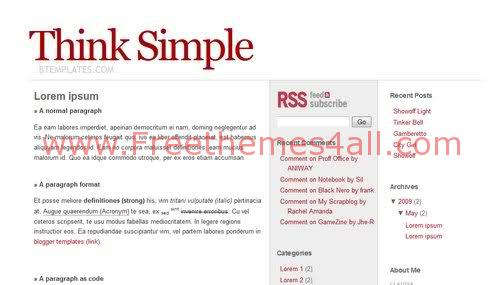 Free Blogger Gray Red Web2.0 Simple Template