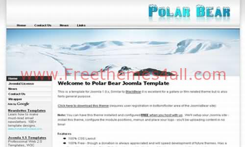 Free Joomla Mountaines Snow Travel Web2.0 Template