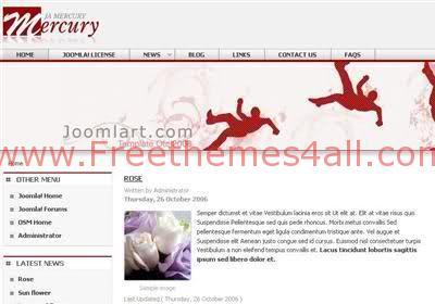 Free Joomla Mercury Music Web2.0 Theme Template