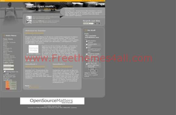 Free Joomla Fashion Grey Web2.0 Theme Template