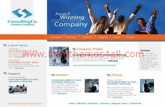 Free HTML Consulting Company Web Template
