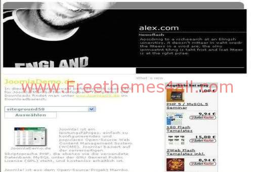 Free Joomla White Black Music Web2.0 Template