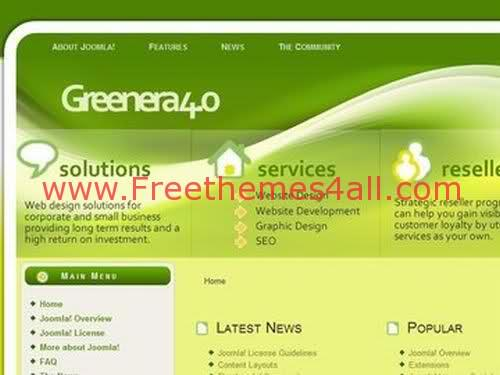 Free Joomla Agriculture Nature Green Web2.0 Theme Template