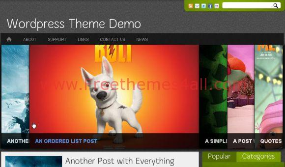 Free Anime Avatars Green WordPress Theme