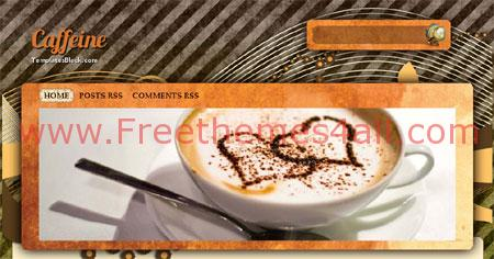 Free Blogger Caffeine Cup Magazine Template
