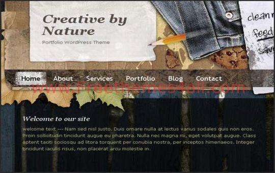 Free WordPress Creative By Nature Blog Theme