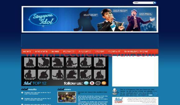 Free WordPress Music Blue Black Theme