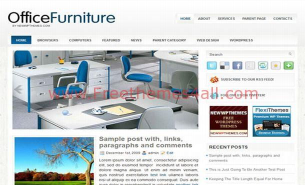 Shopping Blue Furniture Wordpress Theme