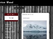 Free Gray Black Wood Blogger Template