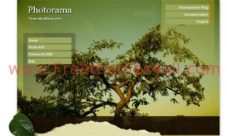 Free Blogger Photorama Green Nature Template