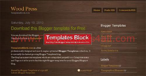 Free Blogger Wood Press Design Web2.0 Template