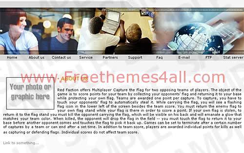 Free Business Telecome Network Company Web Template