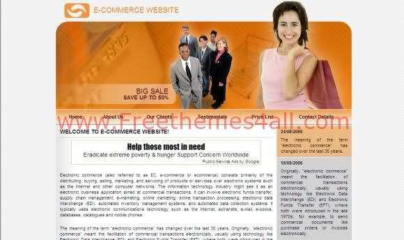 Free Online Clothes Shop Business Web Template