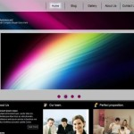 Abstract Black Website Template