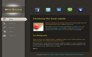 Abstract Silver CSS Website Template