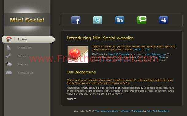 Free Digital Abstract Silver CSS Website Template