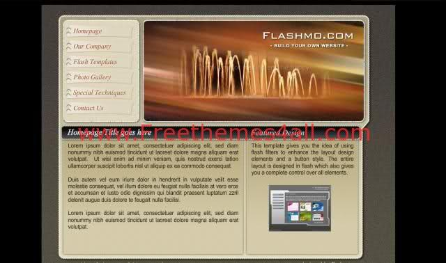 Free Flash Dark Black Brown Volcano Template