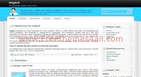 Free CSS Bleu Grey Hi5 Clone Web2.0 Template