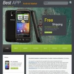 Green Iphone HTML Website Template