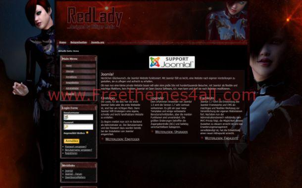 Free Grunge Anime Girls Joomla Theme Template