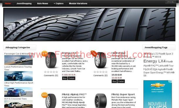 Auto Cars Shopping Joomla Theme