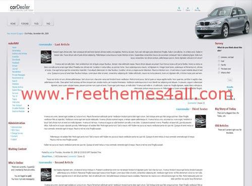 Car Free Automobile Phpnuke Theme